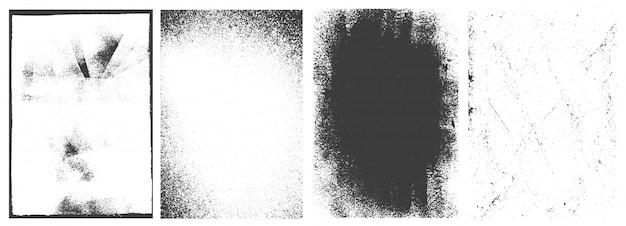 Conjunto de marcos verticales de grunge abstracto vintage