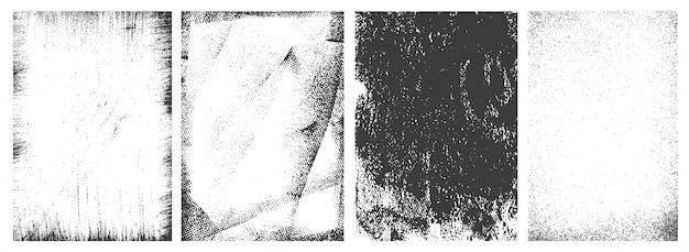 Conjunto de marcos verticales grunge retro