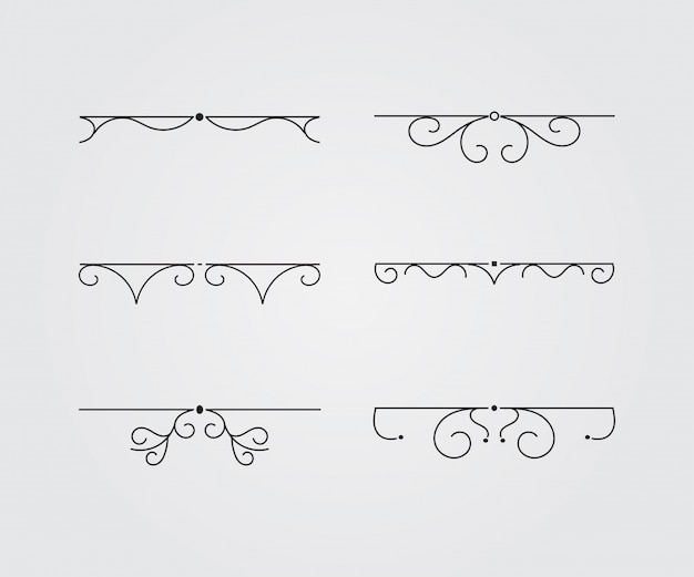 Conjunto de marcos vintage. ilustracion vectorial