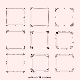 Conjunto de marcos vintage con ornamentos