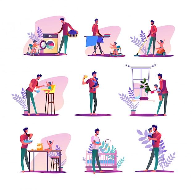 Conjunto de marido de casa