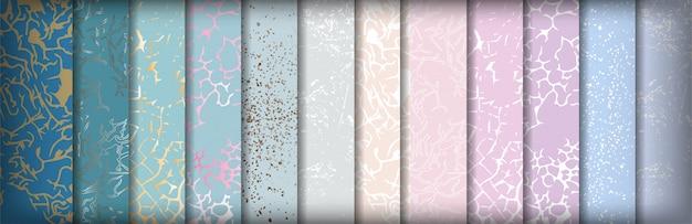 Conjunto de mármol abstracto de hermosos patrones sin fisuras