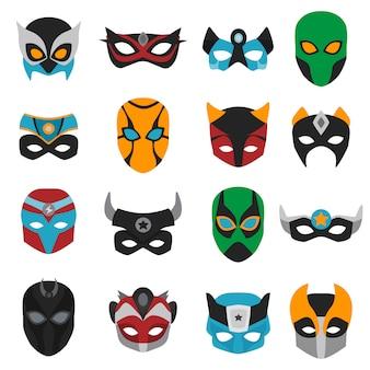 Conjunto de máscaras de superhéroe