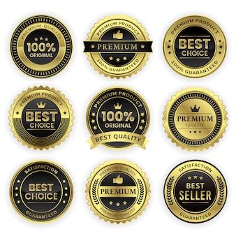 Conjunto de medalla de oro de primera calidad realista