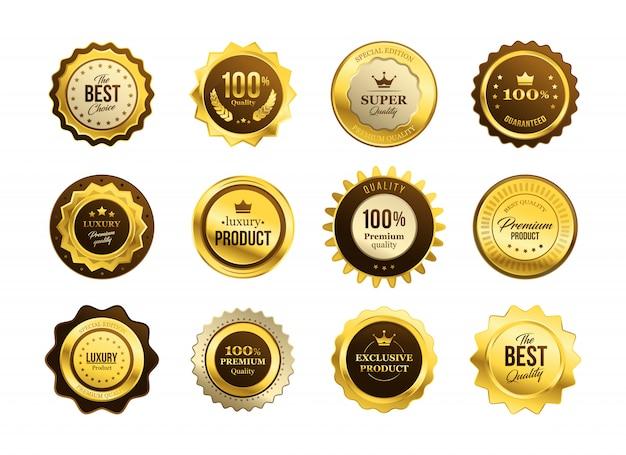 Conjunto de medallas de calidad premium