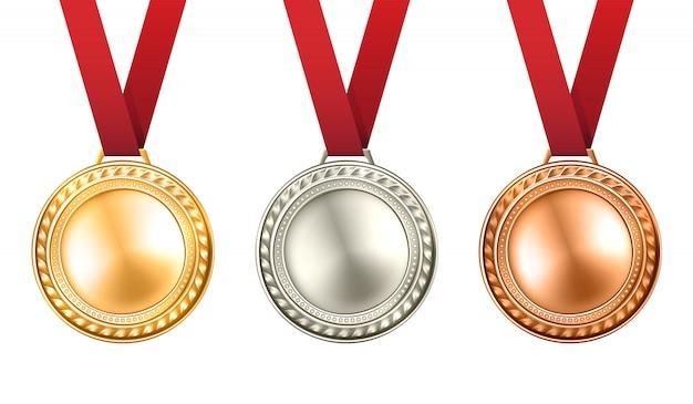 Conjunto de medallas ilustración