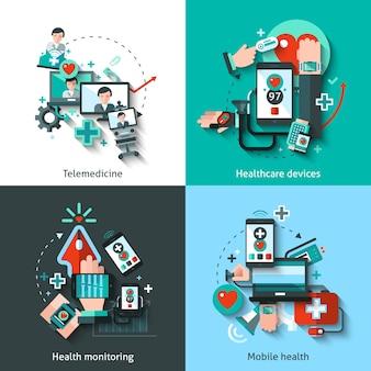 Conjunto de medicina digital