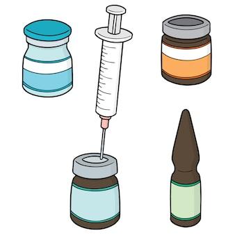 Conjunto de medicina inyectable