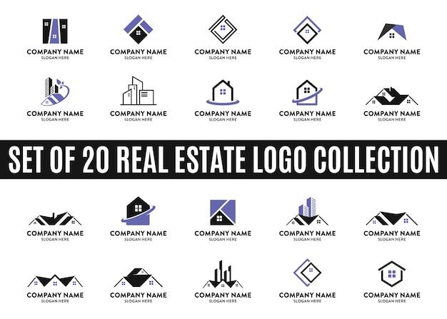 Conjunto de las mejores colecciones de logotipos inmobiliarios