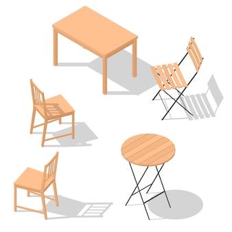 Conjunto de mesa silla