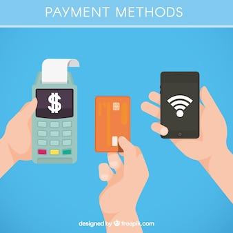 Conjunto de métodos de pago tecnológicos