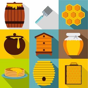 Conjunto de miel, estilo plano
