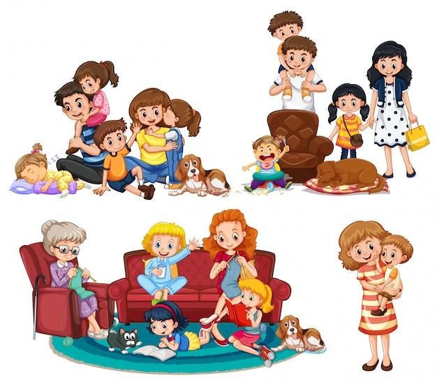 Un conjunto de miembros de la familia