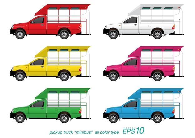 Conjunto de minibús de recogida