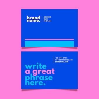 Conjunto minimalista colorido tarjeta de visita