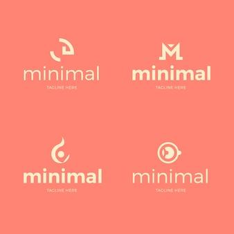 Conjunto mínimo de plantilla de logotipo