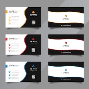 Conjunto mínimo de plantillas de tarjetas de visita
