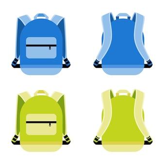 Conjunto de mochila. cartera y contenedor, mochila portátil diaria