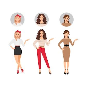 Conjunto de moda casual de las mujeres