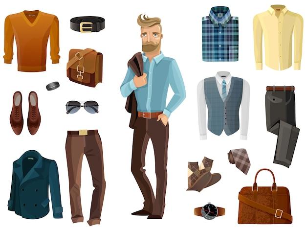 Conjunto de moda hombre
