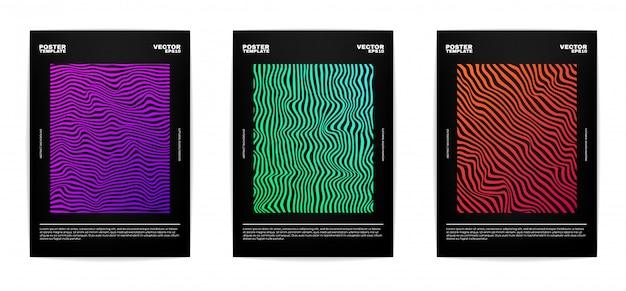 Conjunto de moderno cartel abstracto conjunto