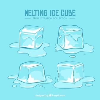 Conjunto moderno de cubitos de hielo