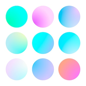 Conjunto moderno de degradado de color