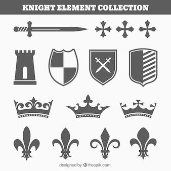 Conjunto moderno de elementos de caballero