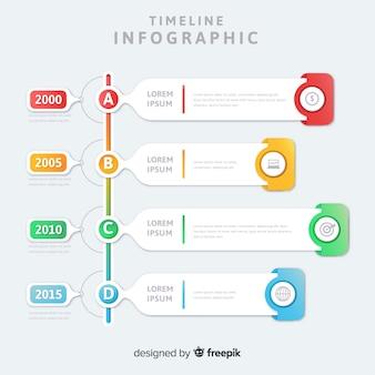 Conjunto moderno de elementos de infografía coloridos