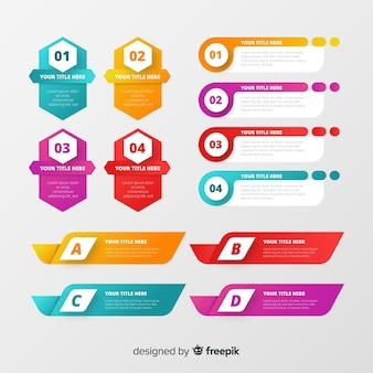 Conjunto moderno de elementos de infografía