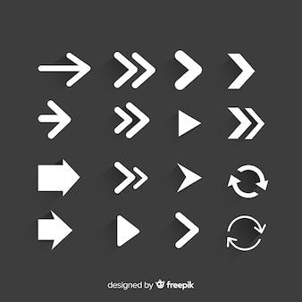 Conjunto moderno de flechas originales