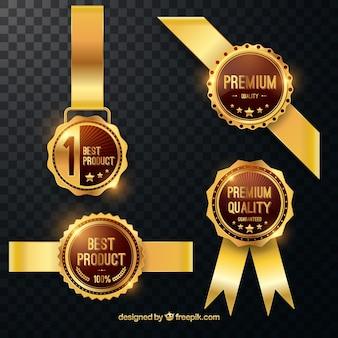 Conjunto moderno de insignias elegantes