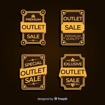 Conjunto moderno de insignias de outlet