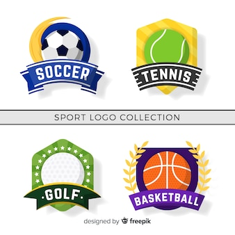 Conjunto moderno de logos abstractos de deportes