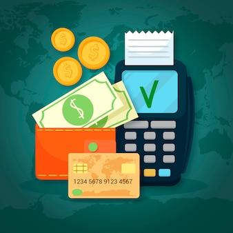 Conjunto moderno de métodos de pago