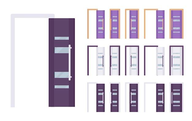 Conjunto moderno de puertas
