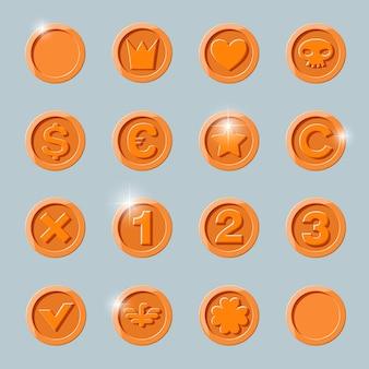 Conjunto de monedas de cobre