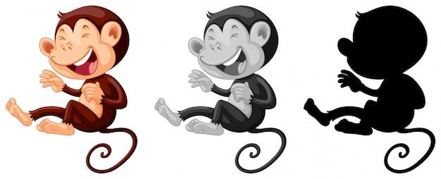 Conjunto de mono riendo