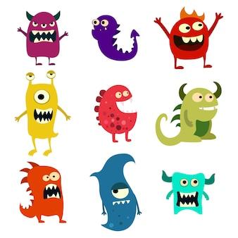 Conjunto de monstruos de doodle