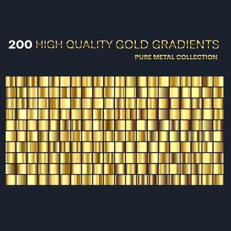Conjunto de muestras de gradientes de oro premium