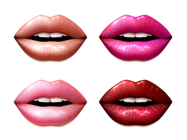 Conjunto de muestras lipsticas