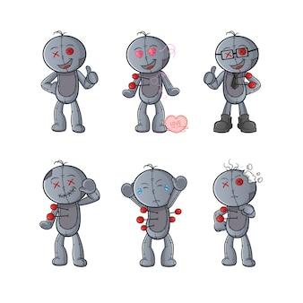 Conjunto de muñeco vudú