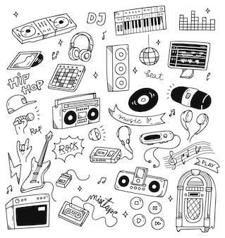 Conjunto de música doodle