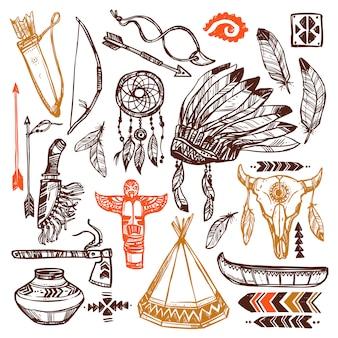 Conjunto de nativos americanos