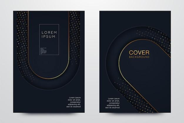 Conjunto negro ilustración de diseño de portada