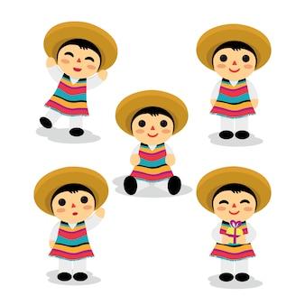 Conjunto de niño de juguete mexicano