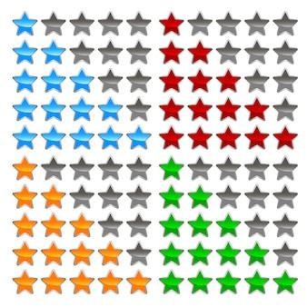 Conjunto de niveles de estrellas