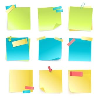 Conjunto de notas adhesivas