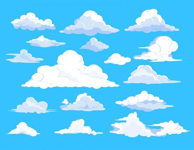Conjunto de nubes en el cielo