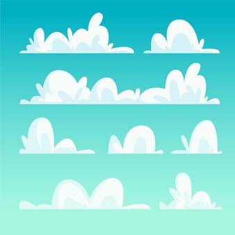 Conjunto de nubes de dibujos animados